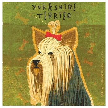 Yorkshire Terrier Dog Beverage Coasters by John W Golden, Set of 8