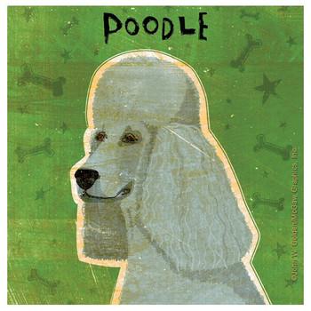 Poodle Dog Absorbent Beverage Coasters by John W Golden, Set of 8