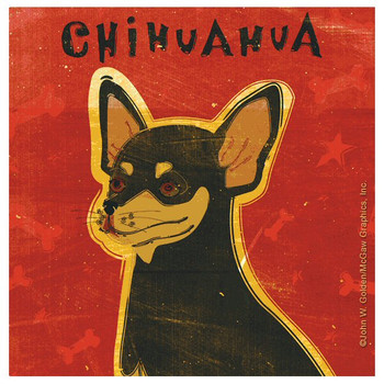 Chihuahua Dog Absorbent Beverage Coasters by John W Golden, Set of 8