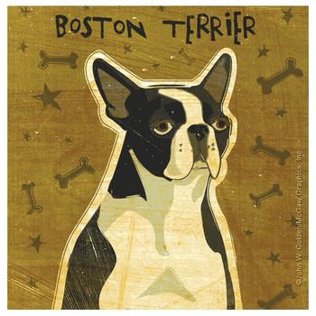 Boston Terrier Dog Beverage Coasters by John W Golden, Set of 8