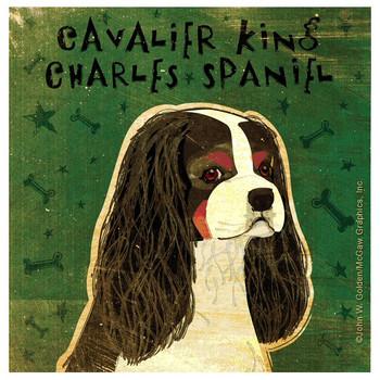 Cavalier King Charles Spaniel Dog Coasters by John W Golden, Set of 8