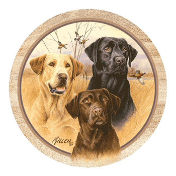 Great Hunting Dogs Sandstone Beverage Coasters by Jim Killen, Set of 8