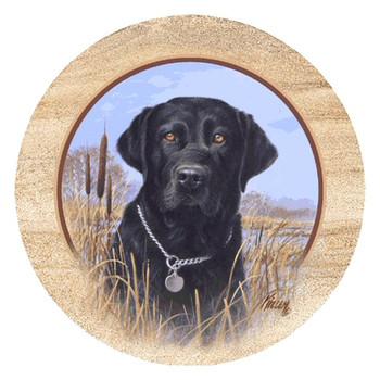 Black Lab Dog Sandstone Beverage Coasters by Jim Killen, Set of 8