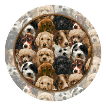 Puppies Absorbent Beverage Coasters by Giordano Studios, Set of 8