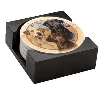 Great Hunting Dogs Beverage Coasters by Jim Killen, Set of 10
