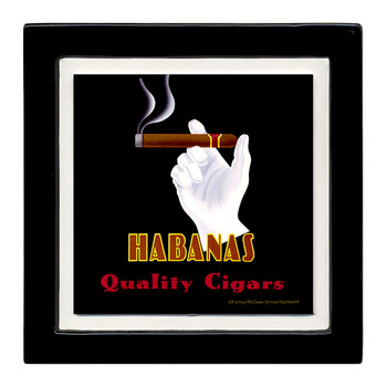 Habanas Quality Cigars Beverage Coasters, Set of 8