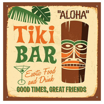 Tiki Bar Absorbent Beverage Coasters, Set of 8