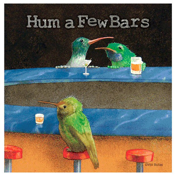 Hum a Few Bars Absorbent Beverage Coasters by Will Bullas, Set of 12