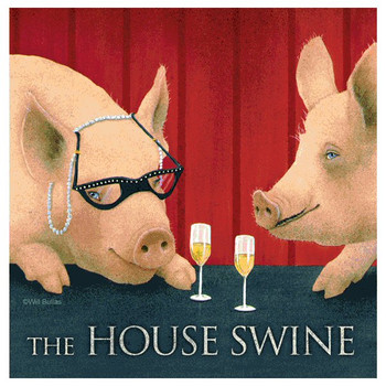 The House Swine Absorbent Beverage Coasters by Will Bullas, Set of 12