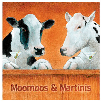 Moomoos & Martinis Beverage Coasters by Will Bullas, Set of 12