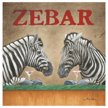 Zebar Absorbent Beverage Coasters by Will Bullas, Set of 12
