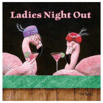 Ladies Night Out Absorbent Beverage Coasters by Will Bullas, Set of 12