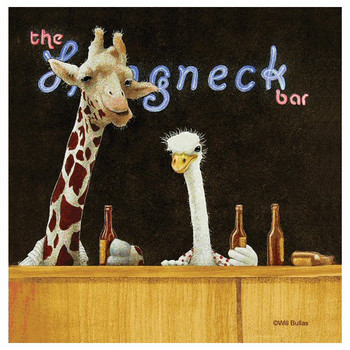 Longneck Bar Absorbent Beverage Coasters by Will Bullas, Set of 12