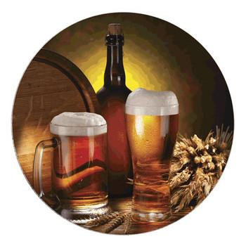 Beer Still Life Sandstone Round Beverage Coasters, Set of 8