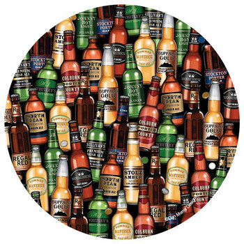 Beer Toss Absorbent Round Beverage Coasters by Dan Morris, Set of 8