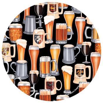Beer Collage Absorbent Round Beverage Coasters by Dan Morris, Set of 8
