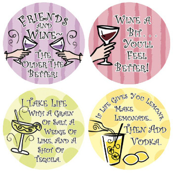 Grain of Salt Beverage Coasters, Set of 8