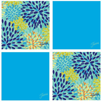 Fiesta Peacock Cool Calypso Absorbent Beverage Coasters, Set of 8