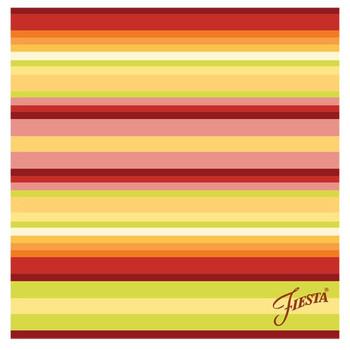 Fiesta Warm Stripe Absorbent Beverage Coasters, Set of 12