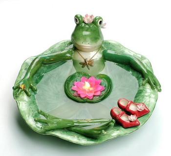 Frogalina Porcelain Frog Floating Candle Bath Candle Holder
