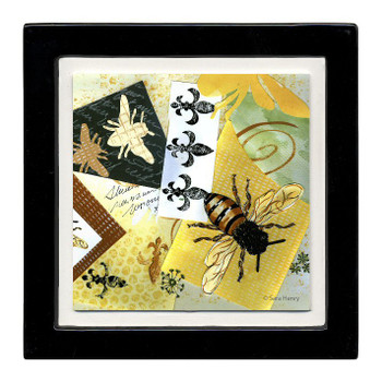 Fleur de Bee Beverage Coasters, Set of 8