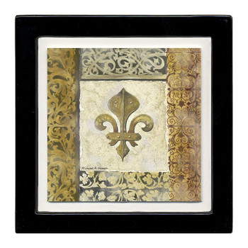 Fleur De Lis Element Beverage Coasters, Set of 8
