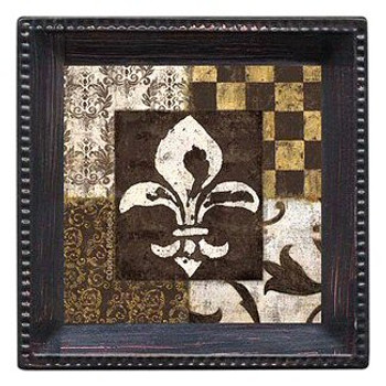 Fleur de Lis Absorbent Beverage Coasters by Daphne B, Set of 12
