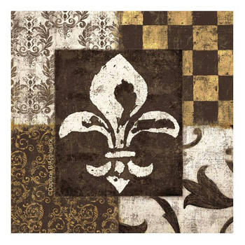 Fleur De Lis I Absorbent Beverage Coasters by Daphne B, Set of 8
