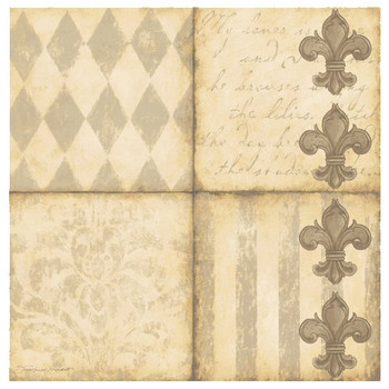 Fleur De Lis I Beverage Coasters by Stephanie Marrott, Set of 8