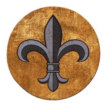 Fleur De Lis Cork Beverage Coasters, Set of 12