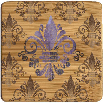 French Manor Fleur De Lis Beverage Coasters, Set of 8