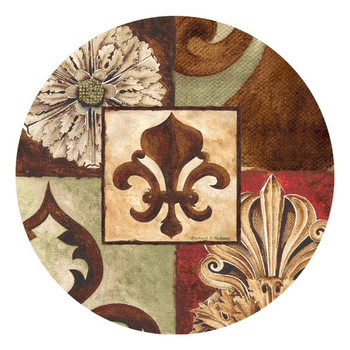 Facade II Round Beverage Coasters by Richard Henson, Set of 8