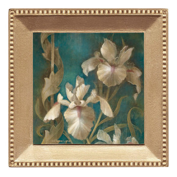 Irises on Teal Beverage Coasters, Set of 8