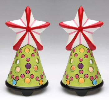 Tree Star Tea Light Candle Holder, Set of 2