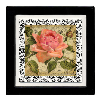Vin Rose Flower Beverage Coasters, Set of 8