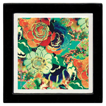 Orla Pattern Floral Beverage Coasters by Poetic Wanderlust, Set of 8