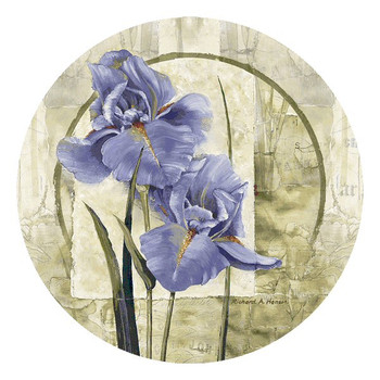 Iris in Bloom Flower Beverage Coasters by Richard A. Henson, Set of 8