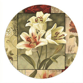 Classic Impressions Flowers Sandstone Beverage Coasters, Set of 8