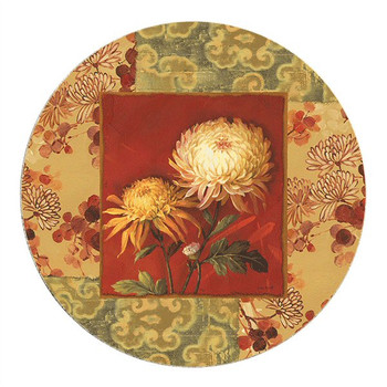Asian Breeze Kirkland Flowers Sandstone Beverage Coasters, Set of 8