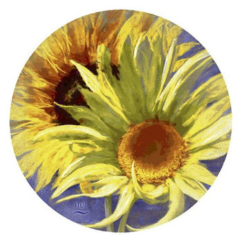 Jitterbug Sunflowers Sandstone Coasters by Nel Whatmore, Set of 8
