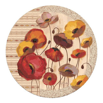 Sunrise Anemones Flowers Coasters by Silvia Vassileva, Set of 8