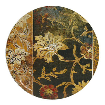 Deep Opulence II Flowers Sandstone Round Coasters by Kemp, Set of 8