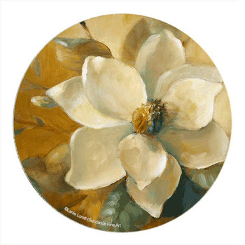 Magnolias Aglow Sandstone Round Coasters by Lanie Loreth, Set of 8