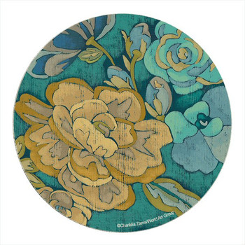 Trousseau Chintz Flower Sandstone Coasters by Zarris, Set of 8