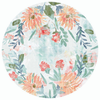 Floral Greetings Round Absorbent Beverage Coasters, Set of 8