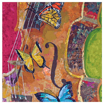 Butterfly String II Coasters by E. St. Hilaire Nelson, Set of 12
