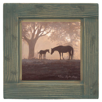 Dawn's First Light Mare and Foal Beverage Coasters, Set of 8