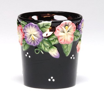 Pansy Flower Votive Candle Holder, Set of 4