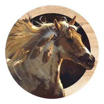 Spirit Horse Sandstone Coasters by Carolyne Hawley, Set of 8