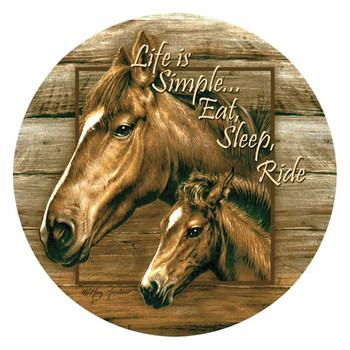 Handsome Pair Two Horses Beverage Coasters by Greg & Co, Set of 8